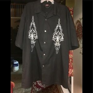 Mens Dragonfly Nikki Sixx Scroll Garage Shirt 3X